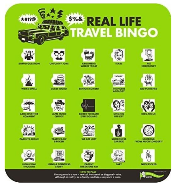 Holiday Travel Bingo