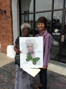 Barbara Jackson, Left and Cynthia Harris, Right. Photo courtesy of The Florida Sun newspaper