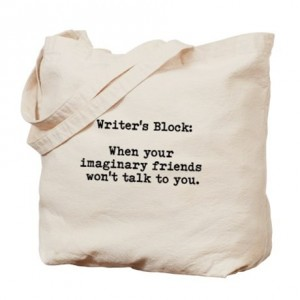 Writers Block Tote, Photo CafePress.com