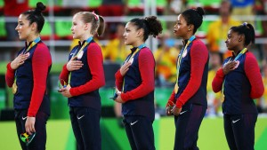 "The ""Final Five"" on August 9, 2016 in Olympic Village Rio de Janeiro, Brazil. Getty Images"