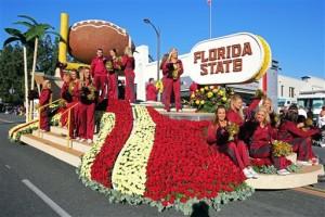 FSU Rose Bowl float 2015