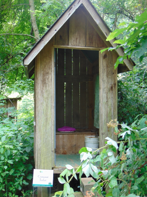 Either use the compost toilet or pee in a bush