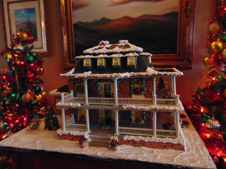 Gingerbread rendering of The Reynolds Mansion