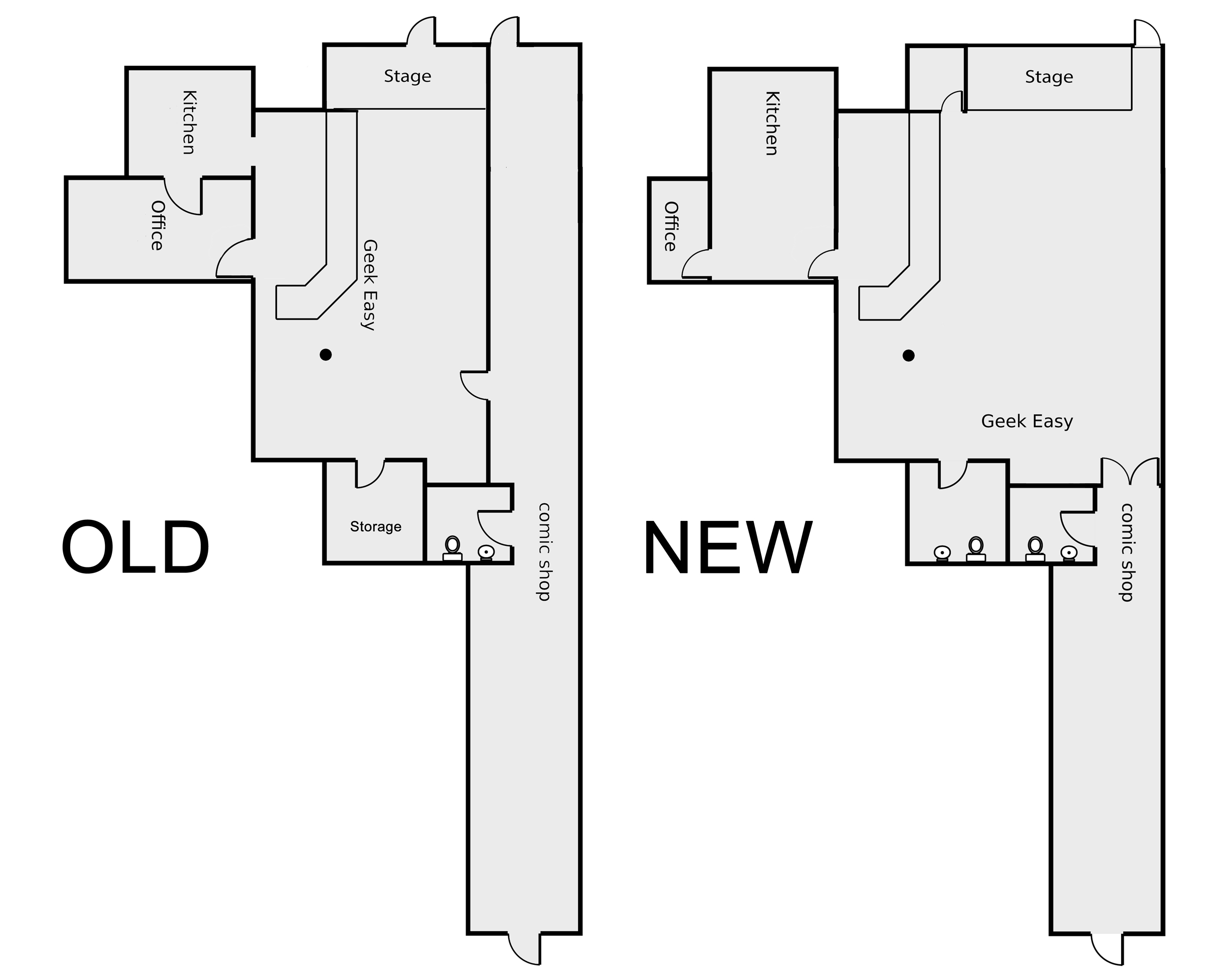 Inspirational New The Easy A Comic Shop Floorplans via Indiegogo