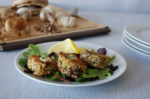 Crab & Mushroom Cakes with Chipotle Aioli