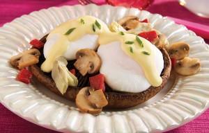 Portobella Eggs Benedict