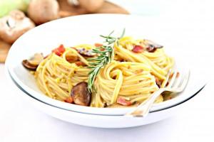 Mushroom & Leek Pasta Carbonara