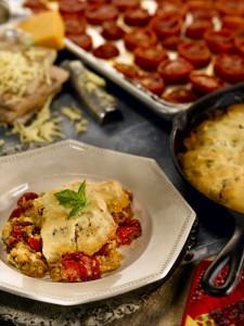 Roasted Tomato & Bacon Cobbler (Photo courtesy Martha White Kitchens)