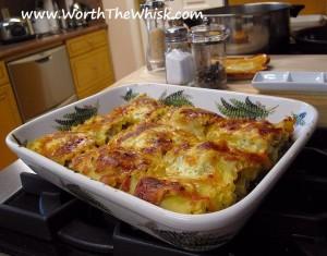 Mushroom, Basil & Goat Cheese Lasagna Roll-Ups (Photo: Worth the Whisk)