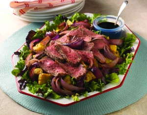 Grilled Beef & Onion Salad (Recipe and image courtesy National Cattlemen's Beef Association)