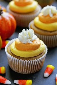 Pumpkin Cupcakes with Candy Corn Buttercream (Photo courtesy McCormick & Co.)