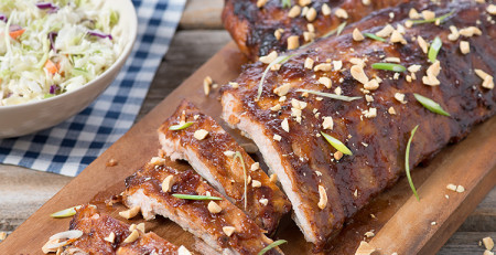 Peanut Butter Barbecue Ribs (Photo courtesy Southern Peanut Growers)
