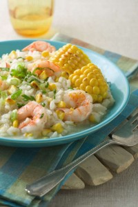 Grilled Sweet Corn & Shrimp Risotto (Photo courtesy Fresh Sunshine Sweet Corn Council)