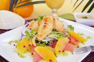 Crispy Alligator Salad With Citrus Remoulade Dressing (Photo courtesy Florida Department of Citrus)