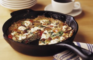 Egg White Frittata with Mushrooms & Goat Cheese (Photo courtesy Mushroom Council)