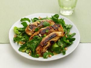 Chopped Watercress Chicken Salad with Orange Dressing