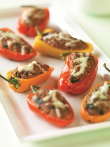 Beef and Couscous-Stuffed Baby Bell Peppers (Photo courtesy Iowa Beef Industry Council)
