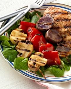 Pepper, Mushroom and Potato Salad (Photo courtesy of the Mushroom Council and mushroominfo.com)