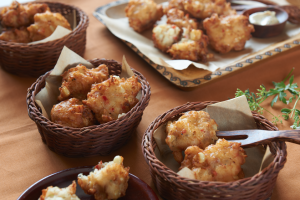 Crab and Prosciutto Corn Fritters (Photo courtesy Duda Farm Fresh Foods)