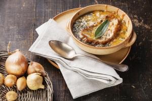 Irish Onion Soup with Cheddar Croutons (Photo courtesy Duda Farm Fresh Foods)
