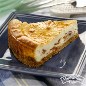 Apple Cinnamon Bacon Breakfast Cheesecake (Photo courtesy Martha White test kitchens)
