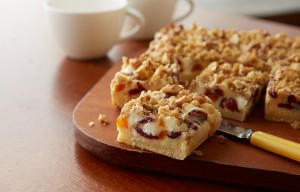 Festive Fruited White Chip Blondies (Photo courtesy The Hershey Co.)