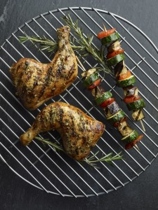 Rosemary Garlic Rubber Whole Chicken Legs with Balsamic-Honey Gl