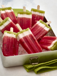 Layered Watermelon Pops (Photo courtesy National Watermelon Promotion Board)