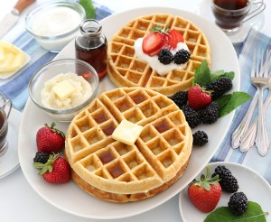 Buttermilk Grits Waffles (Photo courtesy American Butter Institute and Go Bold With Butter)