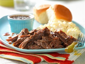 Slow-Cooked Whiskey-Molasses Shredded Beef (Photo courtesy Cattlemen's Beef Board and National Cattlemen's Beef Association)