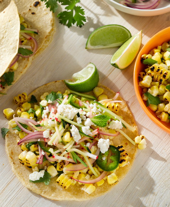Heather's Florida Kitchen | Charred Corn Tacos with Radish ...