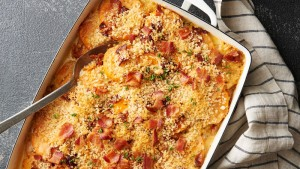 Sweet Potato and Bacon Gratin (Photo courtesy BettyCrocker.com)