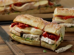 Warm Tuscan Chicken Sandwiches (Photo courtesy National Chicken Council)