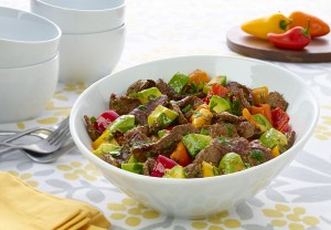 Lemongrass Beef with Avocado (Recipe and photo courtesy of The Beef Checkoff)