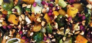 Rosemary Vegetables with Peanuts and Pomegranates (Photo courtesy National Peanut Board)