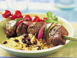 Mojo Beef Kabobs (Photo courtesy the  Beef Checkoff program)