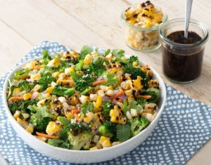 Broccoli and Corn Salad with Toasted Nori Dressing (Photo courtesy Dandy Foods; & Duda Farm Fresh Foods)
