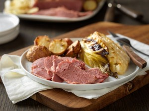 Dijon-Glazed Corned Beef with Cabbage and Potatoes (Photo courtesy Cattlemen's Beef Board, National Cattlemen's Beef Association, the Beef Checkoff)