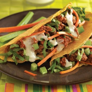 Buffalo-Style Beef Tacos (Photo courtesy Beef Checkoff)