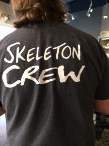 skeleton crew tee shirt