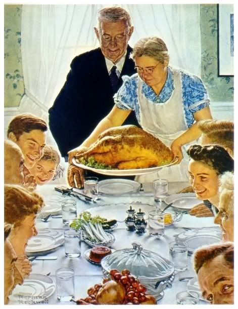Should we call a therapist? They're wearing so much color! (photo courtesy of Norman Rockwell)