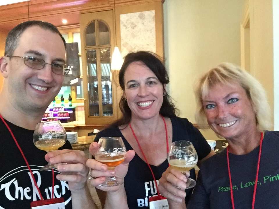 I met fellow Floridian beer bloggers Kelli Matheny of aLadyCrafter.com and Linda Johnson of brewnymph.com