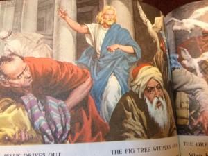 Jesus casts out the banksters Goldman Sachs