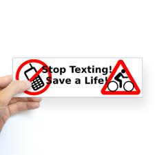 stop_texting_save_a_cyclist_bumper_sticker
