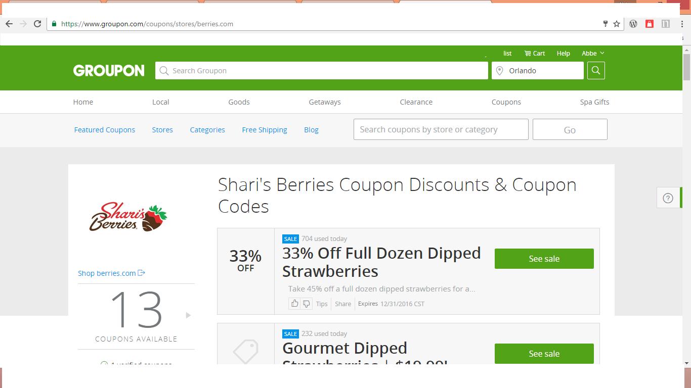 Sherries berries coupon code